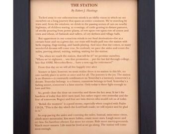 The station poem robert hastings