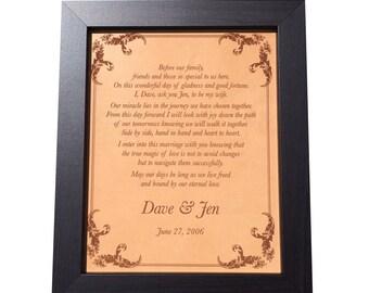 Song lyrics leather etsy wedding vows sign 3rd anniversary gift wedding song lyrics art personalized leather anniversary gift for him 9th anniversary gift stopboris Images