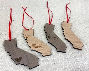 bulk holiday gift idea state shape ornament [ winter wedding favors, stocking or gift tag ] JW Design Studio
