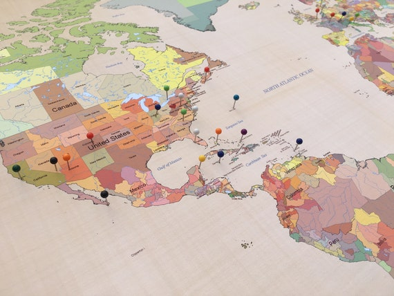 Cotton Anniversary Gift Push Pin World Travel Map Second Anniversary on map and point, map and gear, map and bag, map and math, map and flag, map and key, map and car, map and clock, map and cap, map and draw, map and knife, map and pen,
