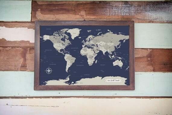 SALE! World Map, husband gift, Push Pin World Map, Paper Anniversary on plastic world map, modeling clay world map, cork board world map, penguin world map, paper world map, bulletin board with world map, key world map, clip world map, framed world map, staples world map, pen world map,