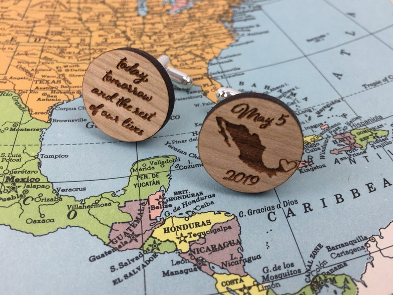 Custom Cuff links rustic wedding personalized wedding grooms gift best mans gift wood anniversary father of bride groomsmen gifts