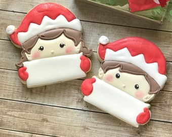 Elf Name Plaque Cookie Cutter (2018)