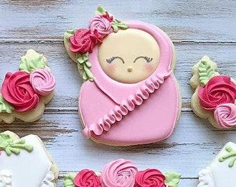 Baby Girl Cookie Cutter. Kettlebell 1 Cookie Cutter.