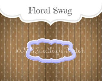 Floral Swag Cookie Cutter. Flower Cookie Cutter. Double Flower Cookie Cutter.