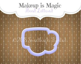 Makeup is Magic Hand Lettered Cookie Cutter