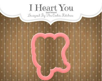 Hand Lettered I Heart You Cookie Cutter