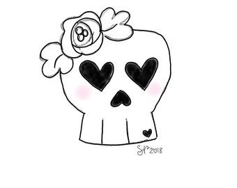 Floral Skull  Cookie Cutter (2018)