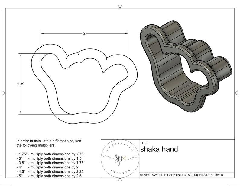 Shaka Hand Cookie Cutter