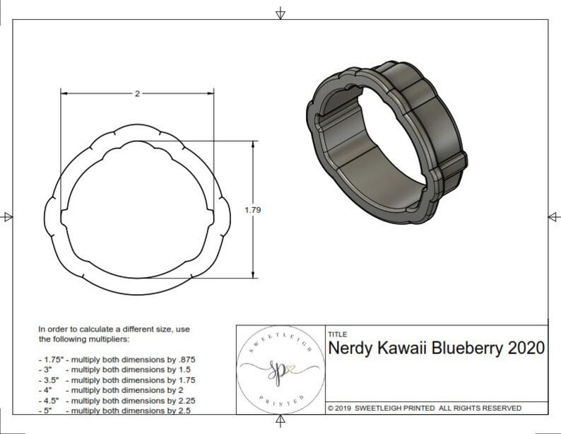 Nerdy Kawaii Blueberry 2020 Cookie Cutter
