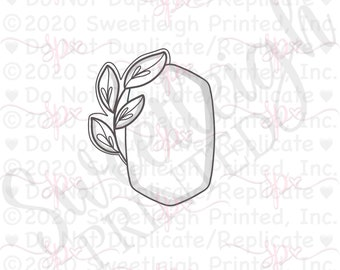 Botanical Willow Plaque Cookie Cutter