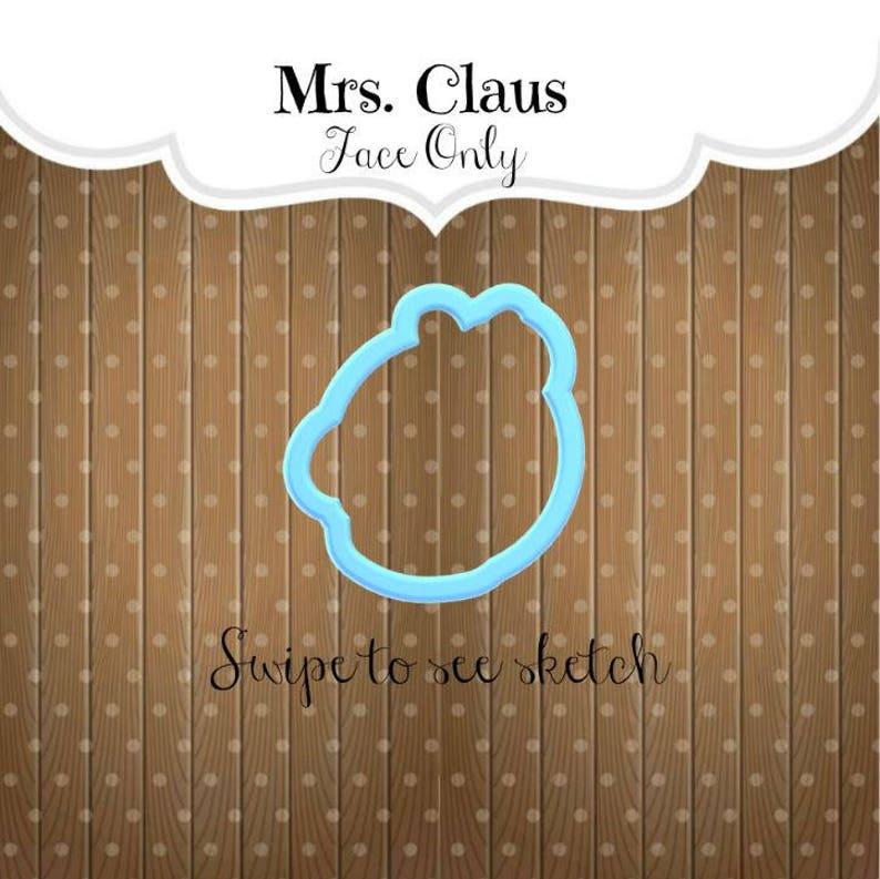 Mrs Claus Cookie Cutter Mrs Claus Face Cookie Cutter