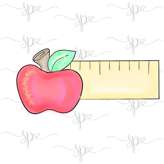 Ruler Apple Cookie Cutter Rulerapple2019 Teacher Etsy
