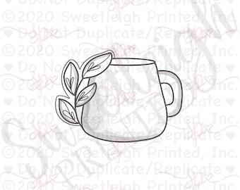 Botanical Clay Mug Cookie Cutter