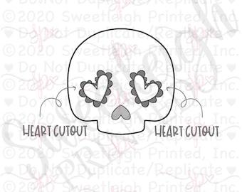 Heart Cutout Skull 1 Cookie Cutter
