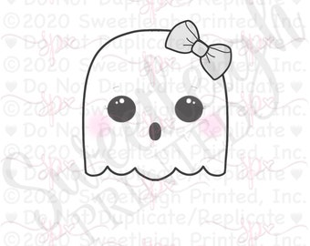 Girly Ghost 1 Cookie Cutter