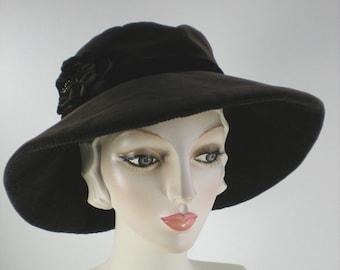 Dressy Wide Brim Ladies Winter Hat f1d86257773