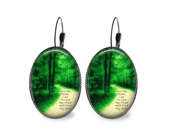 Into the Forest Oval Earrings