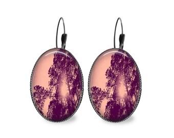 Tree Shadows Oval Earrings