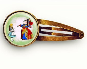 Vintage Alice in Wonderland Hair Clip
