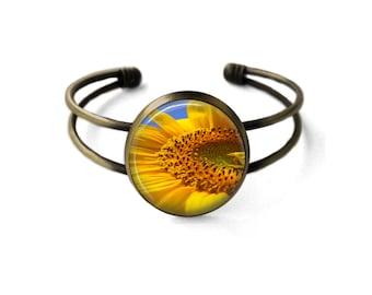 Sunflower Cuff Bracelet