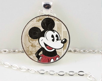 Vintage Mickey Mouse Pendant or Keychain