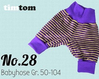 Ebook timtom No.28 | Babyhose Gr. 50 - 104 | Download | Ebook Pumphose | Ebook Mitwachshose | Malvi | Ebook nähen