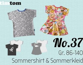 Ebook timtom No.37 | Sommershirt und -kleid | Gr. 80-140 | Ebook Kleid | Sommerkleid | Shirt | Ebook nähen