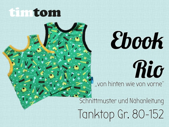 Ebook Rio Ebook Tanktop Gr. 80-152 DOWNLOAD | Etsy