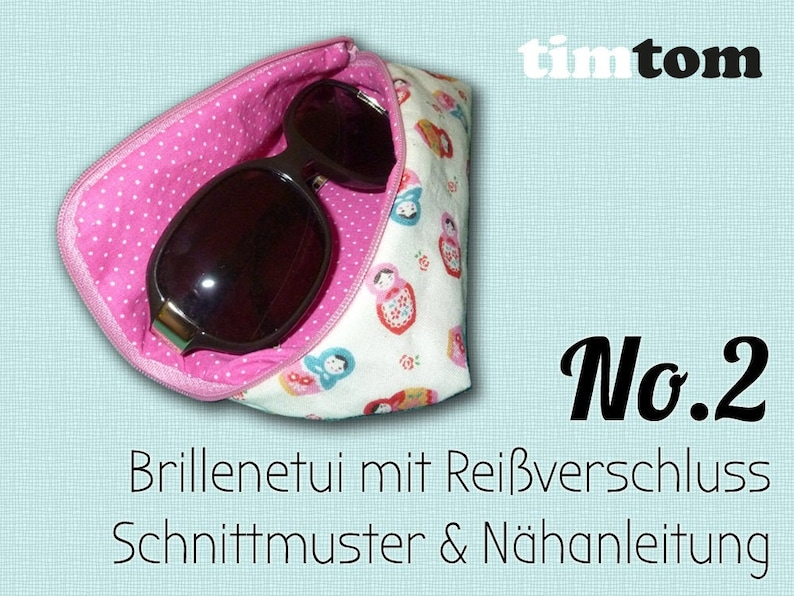 Ebook timtom No.2 eyewear case  Download  With zipper  Sew image 0