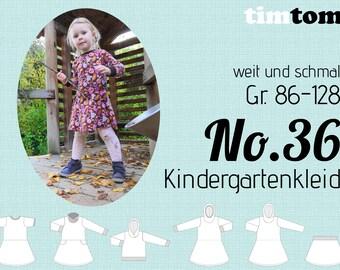 Ebook timtom No.36   Kindergartenkleid   Gr. 86-128   Ebook Kleid   Kapuzenkleid   Drehkleid   Winterkleid   Sweatkleid   Ebook nähen