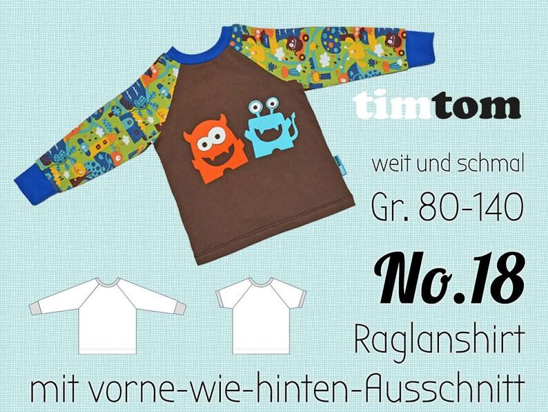 Ebook timtom No.18  Raglanshirt  Kindergartenshirt Gr. image 0
