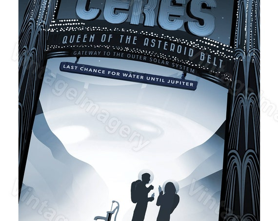 New CERES Nasa Poster Queen of the Asteroid Belt Print ExoPlanet NASA/JPL Space Art Great Gift idea Kids Room Office Wall Art decor