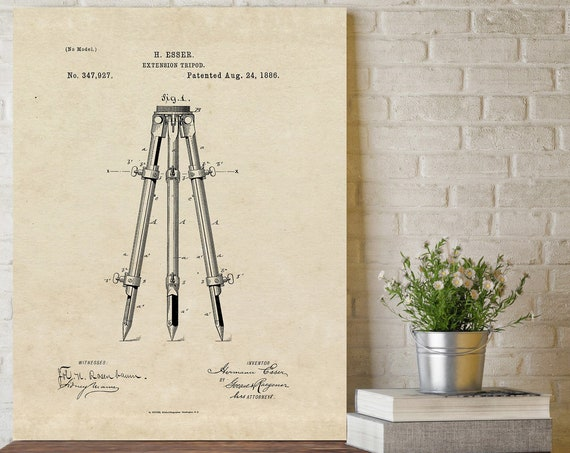 Surveyor Patent Print Surveying Instrument tools Patent Art office wall art home decor Graduation, Builder gift Idea