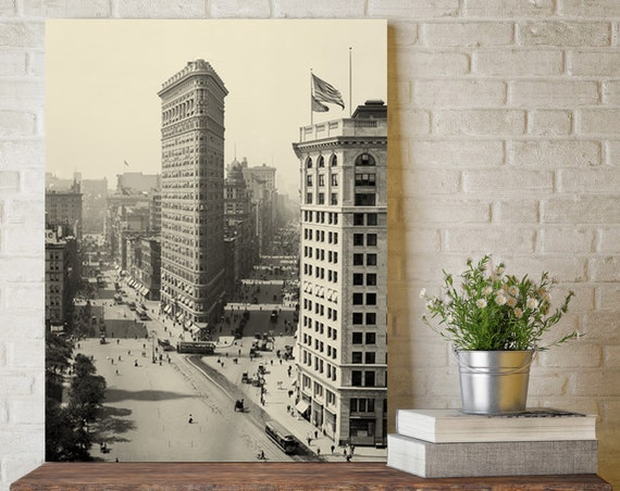 Flatiron Building Photo Print New York City Vintage Architecture  Flat Iron Building art  Skyscraper Photos NYC Art Decor