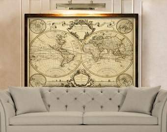 Old World Map Etsy