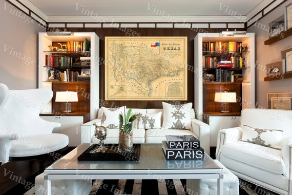 Texas Map 1849 Map of Texas TEXAS Old Map of Texas Vintage Map Restoration Style Texas Wall art Map Of Texas Wall Decor housewarming gift