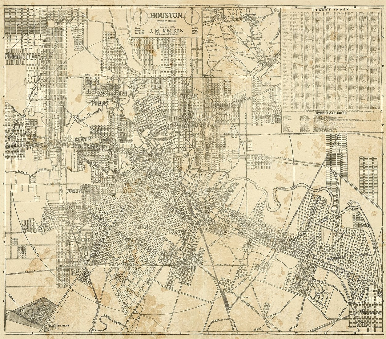 Detailed Map Of Texas.Houston Map Texas Old Map Of Houston Houston Tx Houston