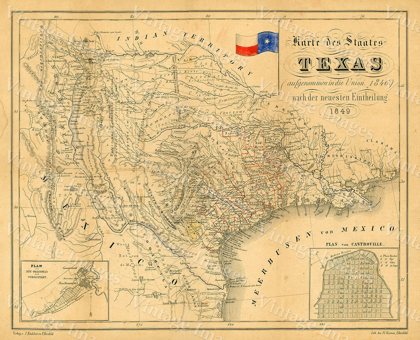 Map Of Texas Old Texas Map TEXAS Map Of Texas Vintage Map - Vintage texas map framed