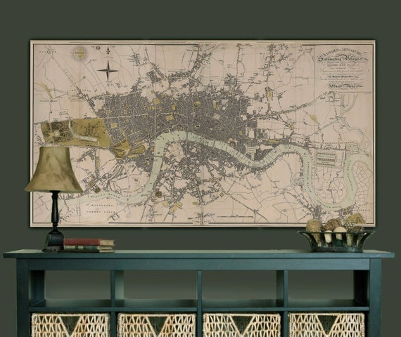 24x36 Vintage Historic Map New Orleans Louisiana 1885
