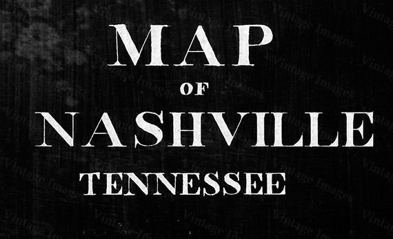 Nashville Map Tennessee 1860 restoration decorator style Vintage Nashville Map Old Map of Nashville Black WALL Map Home Decor Large Map