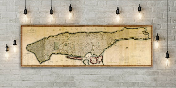 New York Map New York Print Manhattan Map NYC New York Poster New York NY Map Print Manhattan City Map Print NYC Map New York gift map art