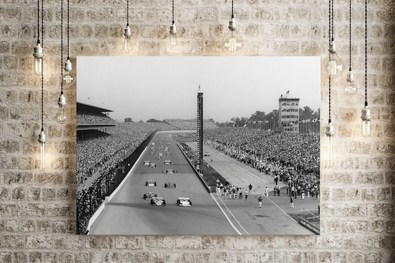 Indy 500 race car decor Indianapolis Motor Speedway race car photo Indianapolis 500 Mile race photo indy car race track photo race fan gift
