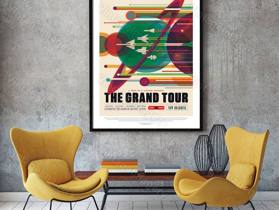 The Grand Tour Nasa Poster ExoPlanet 2016 NASA/JPL Space Travel Poster Space Art Gift idea Kids Room Office, man cave, Wall Art Home Decor