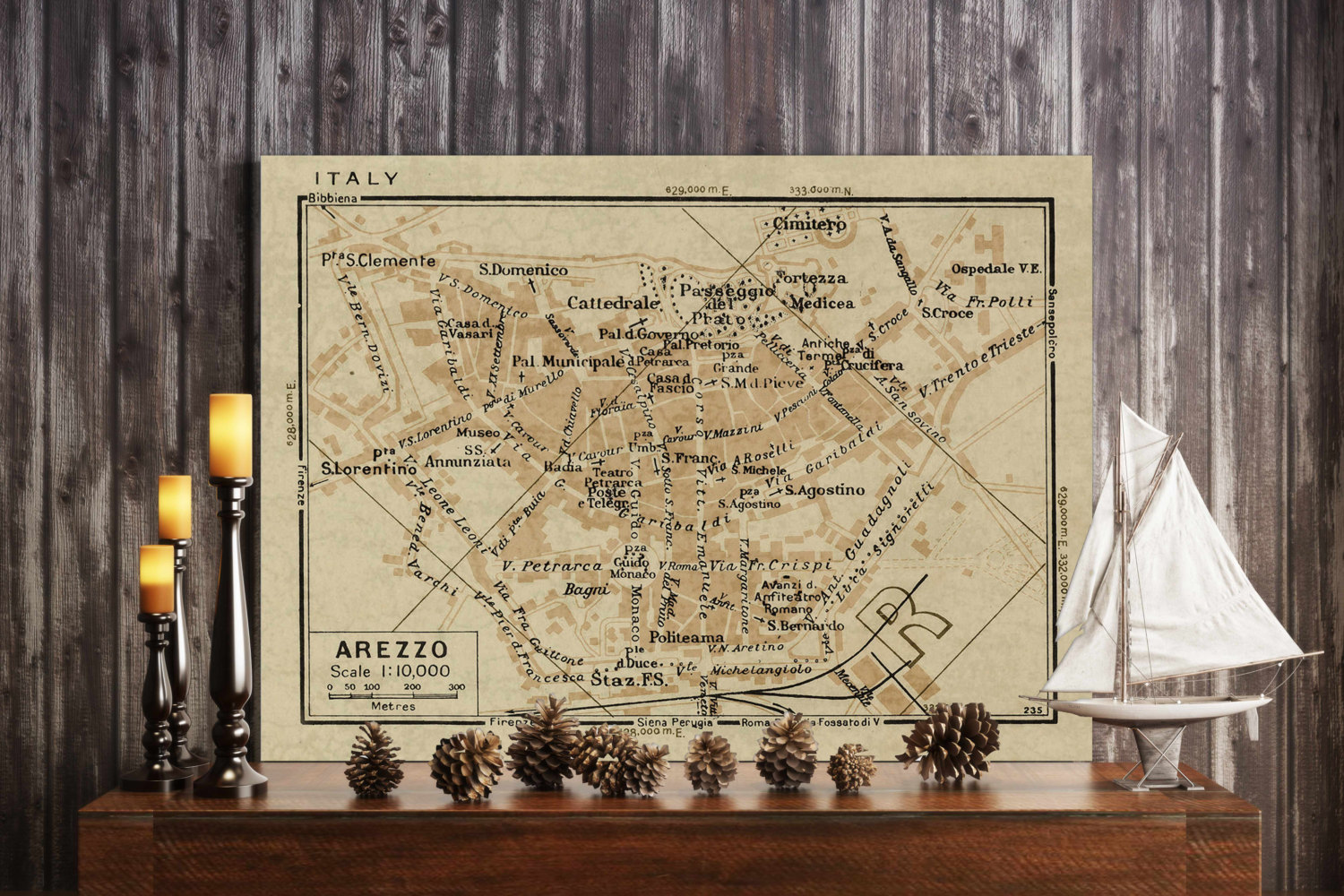 Old map of arezzo italy 1935 arezzo map up to 24x36 old world style old map of arezzo italy 1935 arezzo map up to 24x36 old world style arezzo italy wall map fine art print gumiabroncs Choice Image
