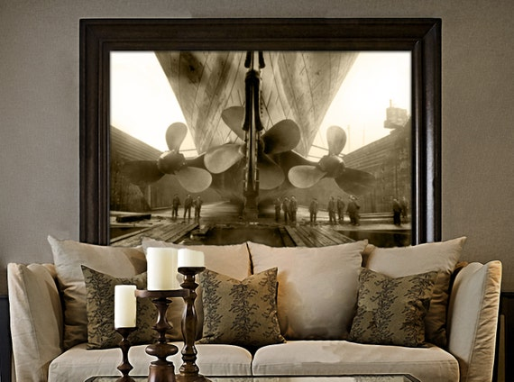 Titanic Vintage Photo Poster Titanic Propeller artwork Print Antique style home decor RMS titanic Gifts