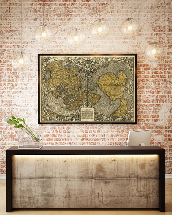 The Oronteus Finaeus Map of The World 1531 World Map Fine Art Print Historical map of the World Renaissance World map home decor map reprint