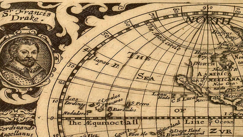 Giant Historic 1628 Old Map Antique Restoration Hardware Style World ...