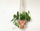 Large Macrame Plant Hanger - Natural Cotton Rope