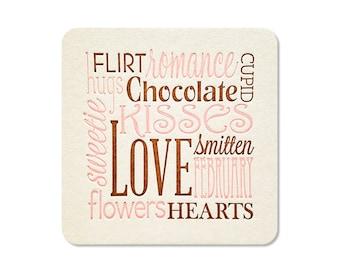 Coasters - Valentine's Day Decor - Holiday Decorations